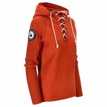 Amundsen Sports Wms Boiled Hoodie Laced Iron Rust S