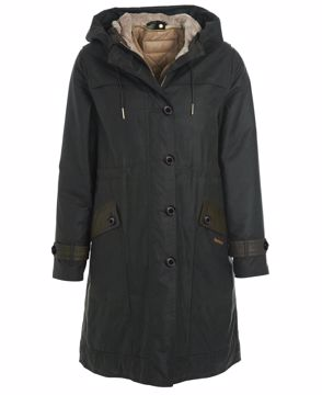 Barbour Wms Avoch Wax Jacket Sage/Ancient 16