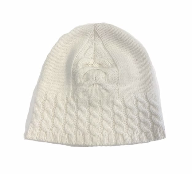 Steffner Lambswool Cable Beanie Cream