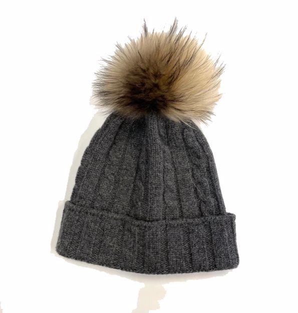 Steffner Lucy Pels Lambswool Hat Dark Grey