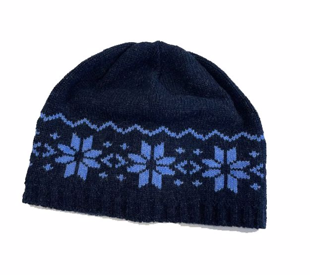 Steffner Bergen Lambswool Hat Pattern Blue