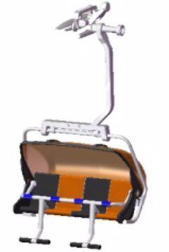 Jägerndorfer Stolheis 4 Pers. Orange Black
