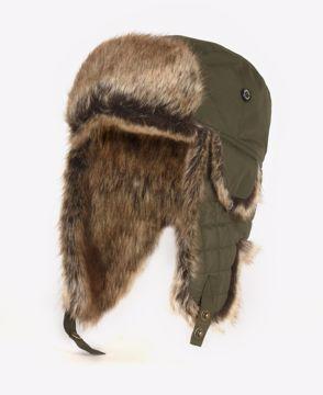 Barbour Cleadon Trapper Hat Olive XL